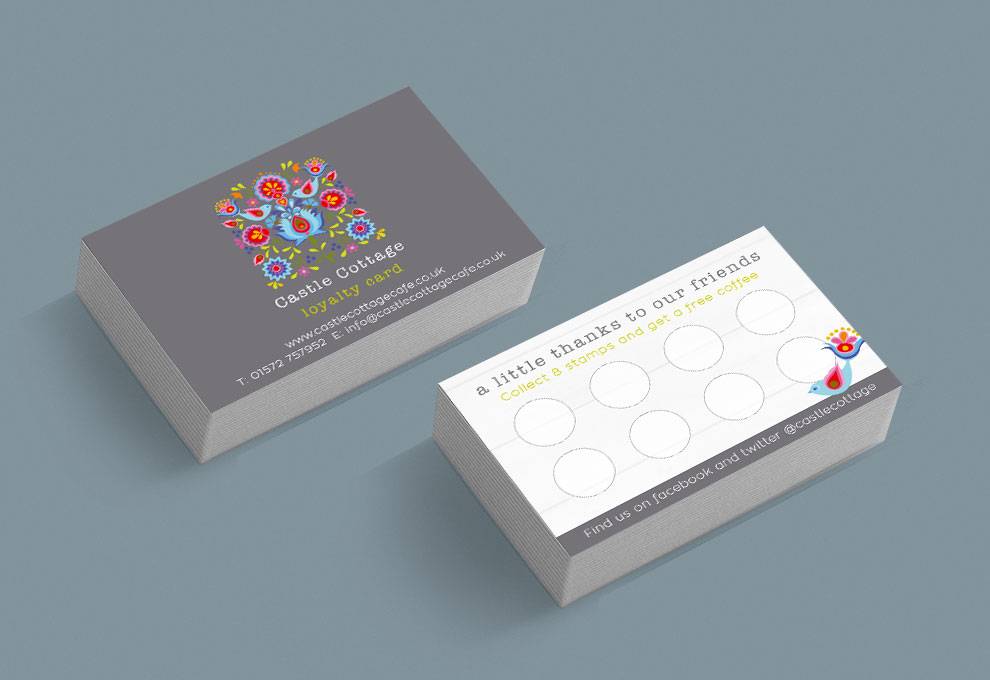 printed business cards castle cottage