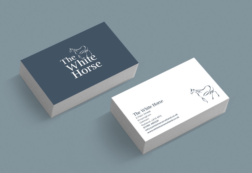 printed business cards the white horse