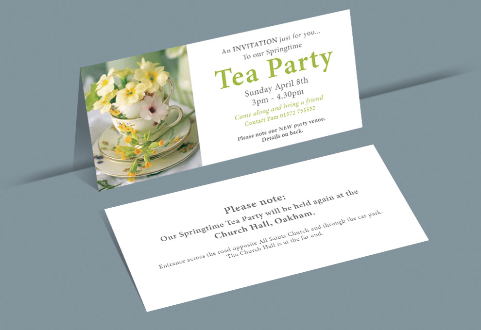 printed invitations tea party