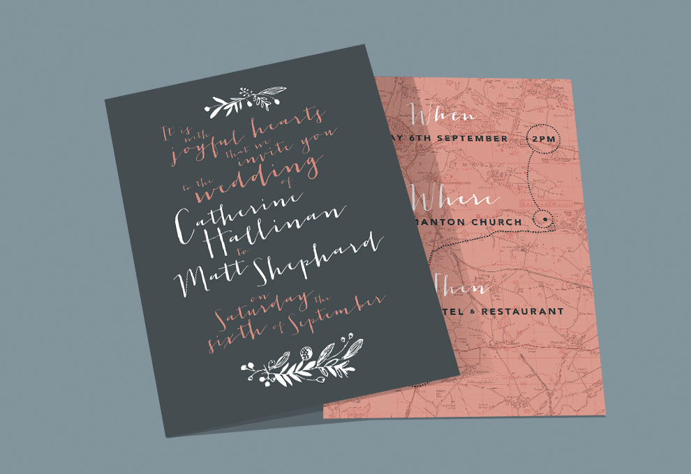 printed wedding stationery invitations